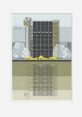 Trellick Tower Print by Linescapes