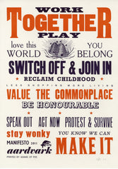 Aardvark - 2011 Manifesto - Together - londonprintstudio
