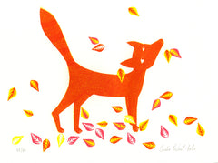 Fox in the Leaves by Coralie Bickford-Smith - londonprintstudio