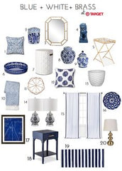 Blue and white furniture trends