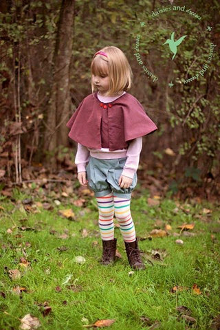 Fawn shorts with Ella Cape