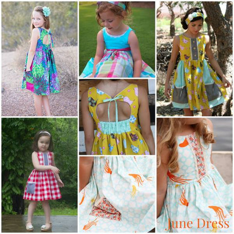 June dress pic collage