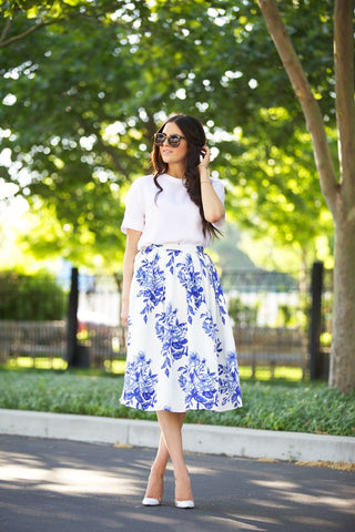 Blue and White Fashion Pic