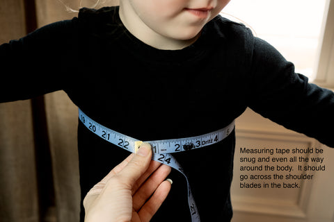 Measuring your child's bust