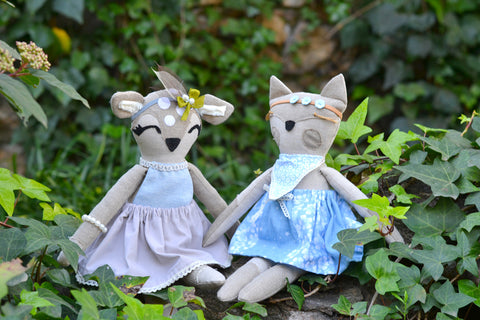 Fiona Fox and Dainty Deer animal doll patterns