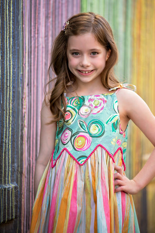 Grace dress zig zag bodice