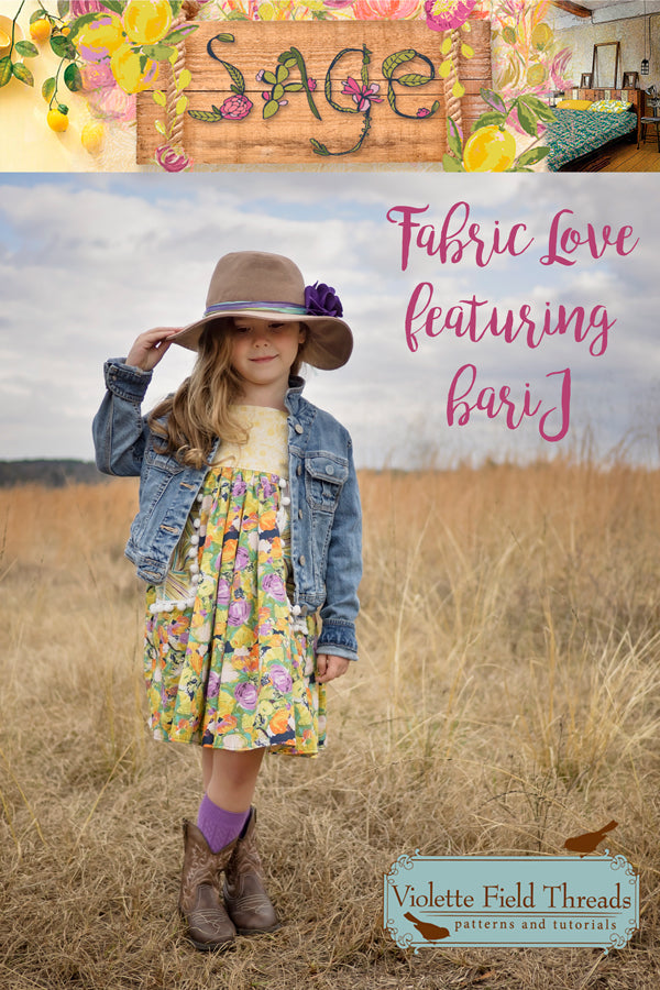Fabric Love with bari J Sage