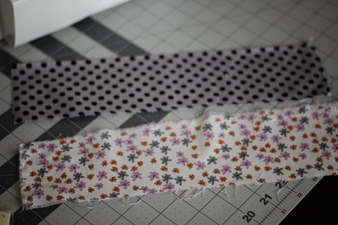 cut 2 strips of fabric