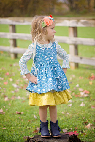 VFT Pearl dress and pinafore