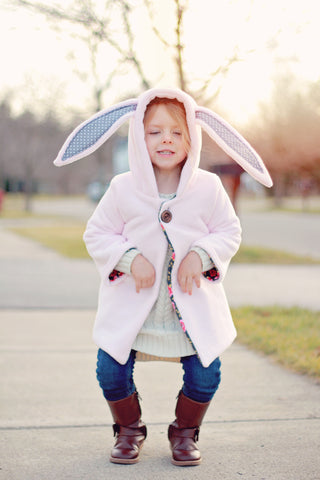 Molly hood with bunny ears pdf pattern