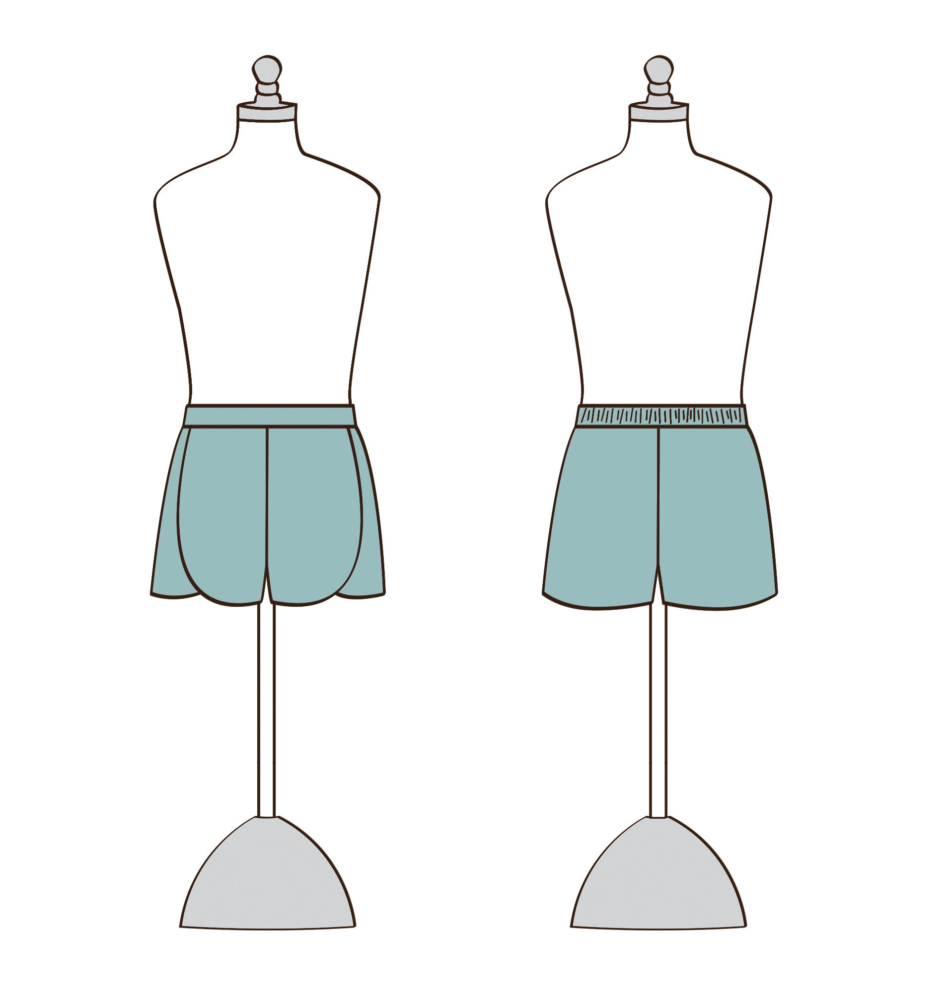 picture relating to Printable Shorts Pattern known as Lilly Tween Shorts