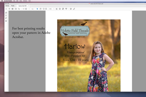 How to print pdf patterns