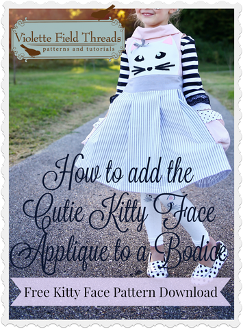 Cutie Kitty face pdf pattern