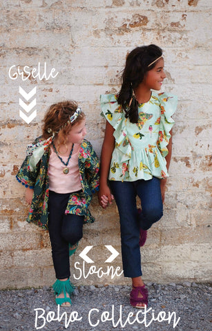 Boho collection Sloane, Giselle, and Odette