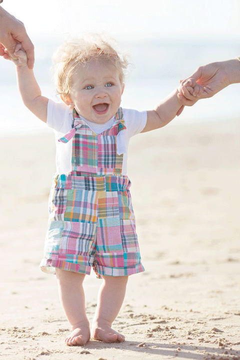 Brooklyn Baby Dress, Short and Pant Overalls