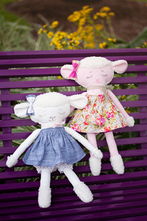 "Lovey Lamb 18"" Stuffie Animal Pattern"