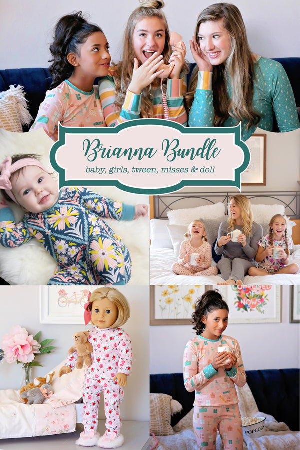 Brianna Baby + Girls + Tween + Misses + Doll Pajama Bundle