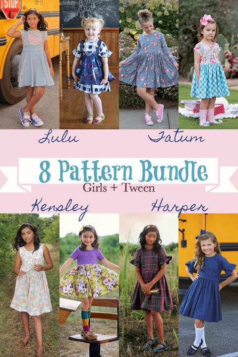 Vintage Study Hall + Modern Playground Girls & Tween- 8 Pattern Bundle