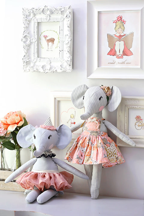 "Elle Elephant 18"" Stuffie Animal Pattern"