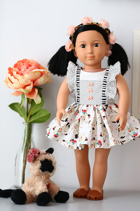 Hazel Doll Skirt & Pinafore