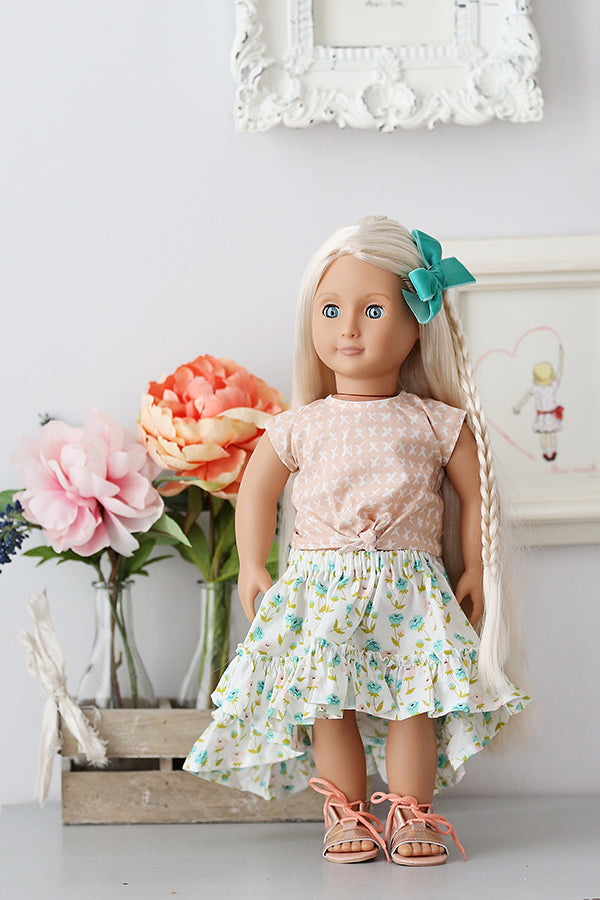 Clover Doll Top & Skirt