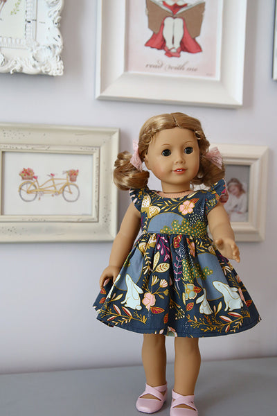 Pearl Doll Dress & Pinafore - Violette Field Threads  - 1