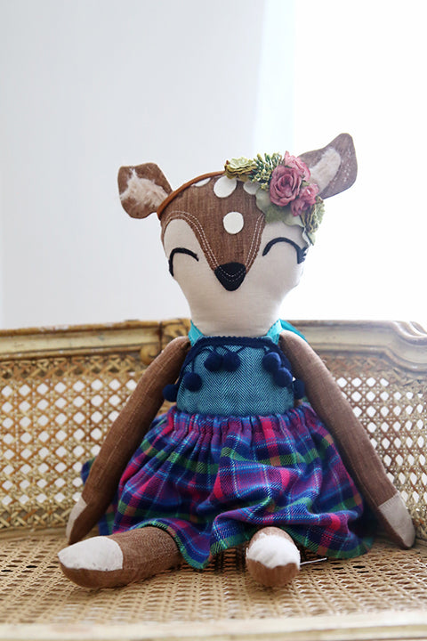 "Dainty Deer 18"" Doll - Violette Field Threads  - 1"
