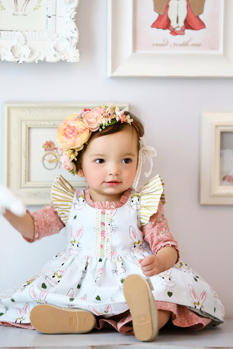Pearl Baby Dress & Pinafore - Violette Field Threads  - 1