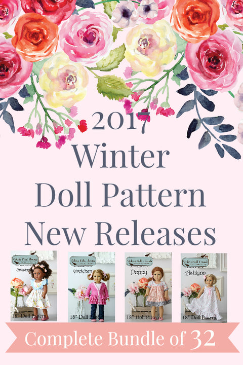 2017 Winter Doll Releases - Full Collection of 32 {Just Released} Doll Patterns