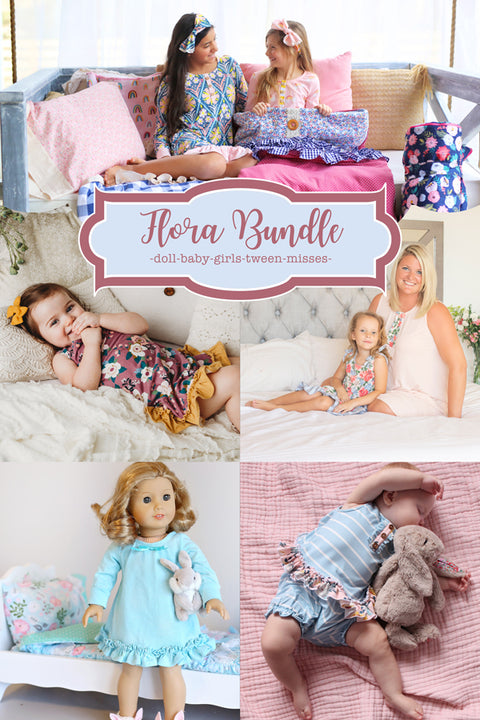 Flora Baby + Girls + Tween + Misses + Doll Tunic & Nightgown Bundle