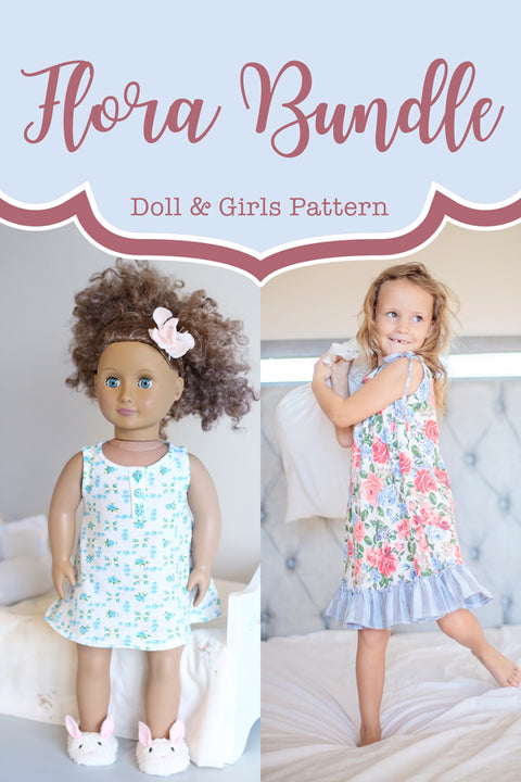 Flora Girl + Doll Tunic & Nightgown Bundle