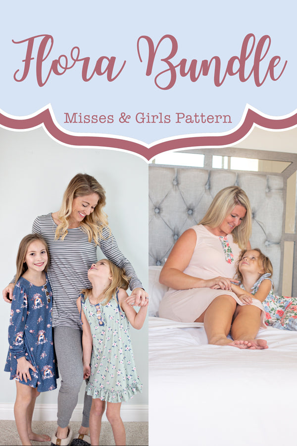 Flora Girl + Misses Tunic & Nightgown Bundle