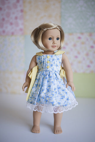 Rosemary Doll Pinafore & Slip - Violette Field Threads  - 1