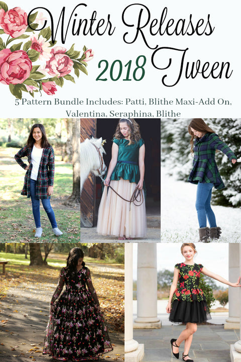 2018 Tween Winter Releases 5 Pattern Bundle