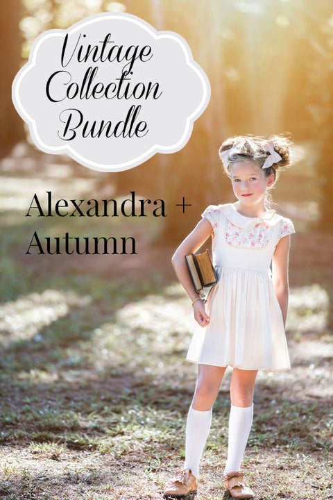 Vintage Back to School: Alexandra and Autumn Bundle + Alexandra Bow