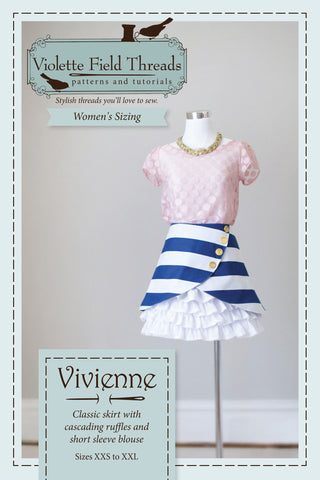 Vivienne Misses Skirt & Blouse - Violette Field Threads  - 1