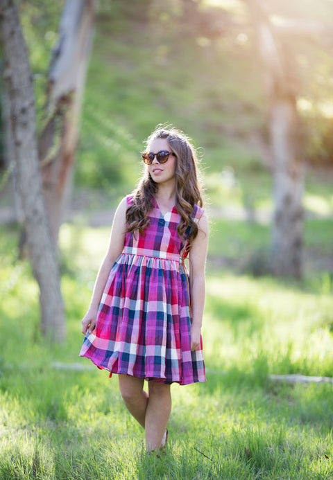 Olive Tween Dress and Top