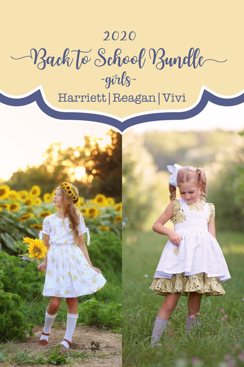 2020 Back to School - Bundle of 3 Girls Patterns