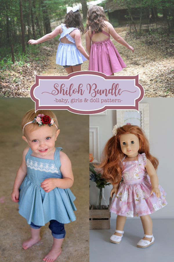 Shiloh Baby + Girls + Doll Top & Dress Bundle