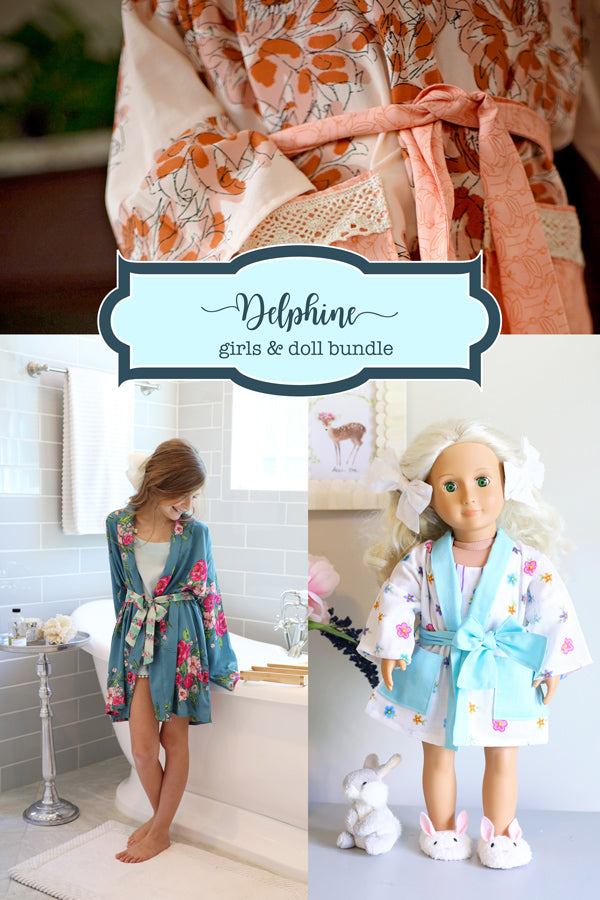 Delphine Girls + Doll Robe Bundle