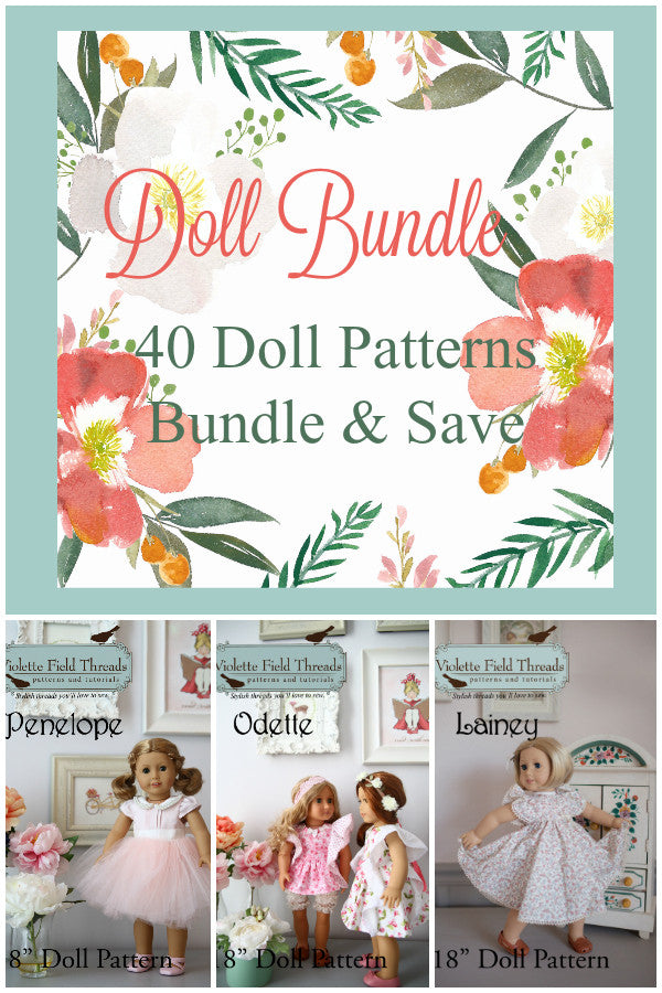 "Master Collection of 18"" Doll Patterns - Violette Field Threads  - 41"