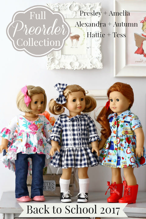 2017 VFT Back to School: Full Doll Collection: 6 Doll Pattern Bundle