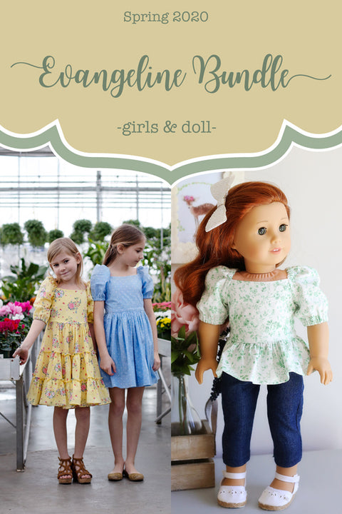 Evangeline Girls + Doll Top & Dress