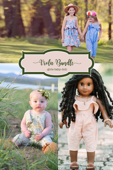 Viola Baby + Girls + Doll Dress & Romper Bundle