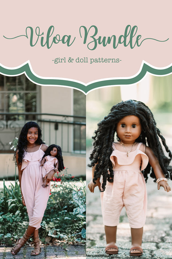 Viola Girls + Doll Dress & Romper Bundle
