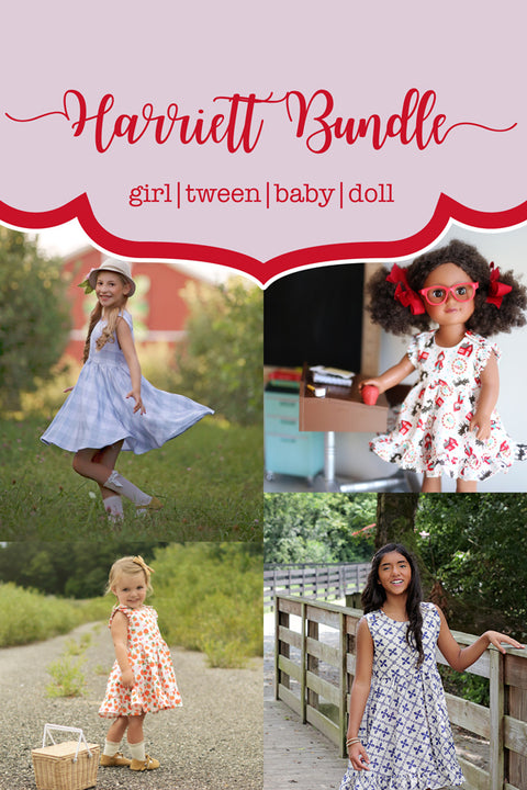 Harriett Baby + Girl + Tween (PreOrder) + Doll Top & Dress Bundle