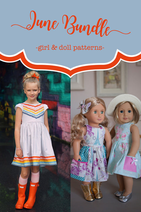 June Girls & Doll Dress Bundle