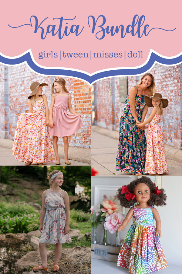 Katia Girls + Tween + Misses + Doll Top, Skirt & Dress