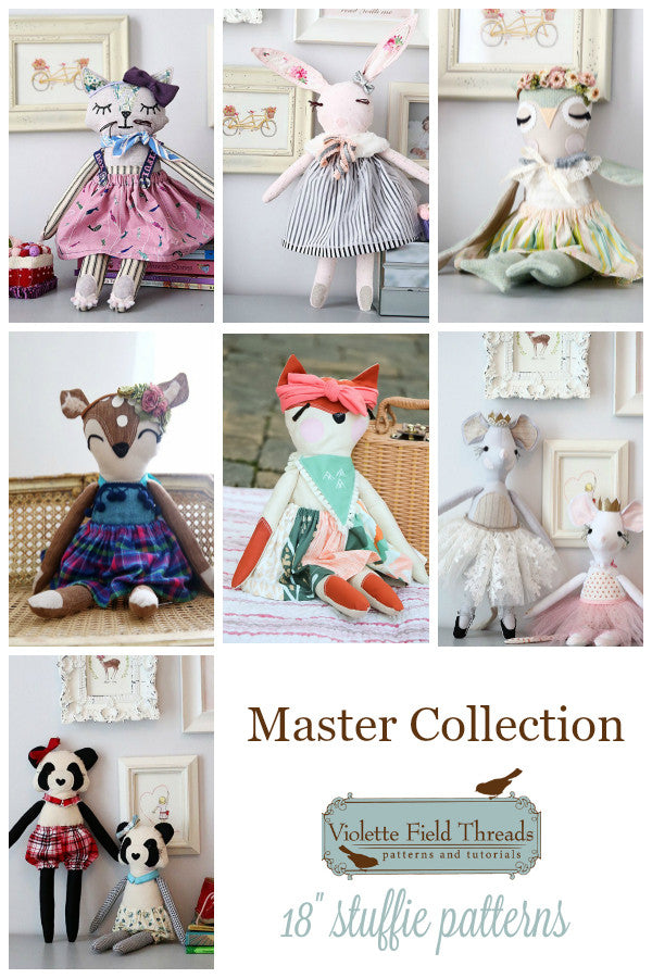 Stuffed Animal Patterns Master Collection Violette Field Threads Enchanting Stuffed Animal Patterns