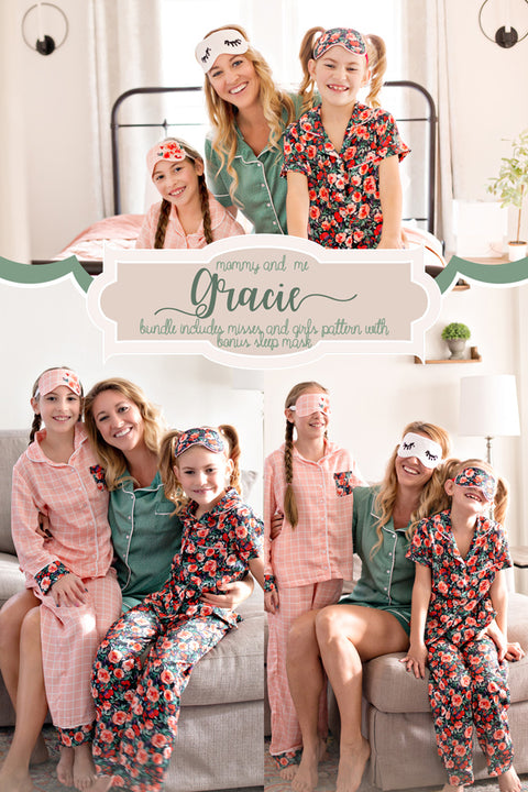 Gracie Mommy & Me Pajamas Bundle + FREE Gracie Sleep Mask